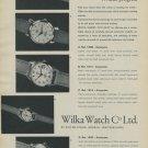 1957 Wilka Watch Company Geneva Switzerland Vintage 1957 Swiss Ad Suisse Advert