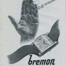 Bremon Watch Company Vintage 1946 Swiss Ad La Chaux-de-Fonds Switzerland Suisse