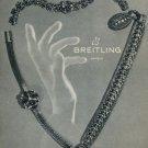 Breitling Watch Company Vintage 1953 Swiss Ad Switzerland Suisse Horlogerie