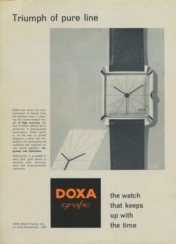 1957 Doxa Watch Company 1957 Swiss Ad Suisse Advert Le Locle Switzerland Horlogerie Horology