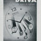1946 Driva Watch Company Vintage 1946 Swiss Ad Geneva Switzerland Geneve Suisse Advert