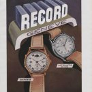 1946 Record Watch Company Switzerland Vintage 1946 Swiss Ad Suisse Advert