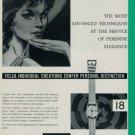 1960 Felca Watch Company Switzerland Catarina Vintage 1960 Swiss Ad Suisse Advert