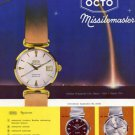 1960 Octo Watch Company Octo Missilemaster Advert 1960 Swiss Ad Suisse Advert