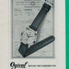1960 Ogival Watch Company La Chaux-de-Fonds Switzerland Vintage 1960 Swiss Ad Suisse Advert
