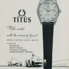 1960 Titus Watch Company Switzerland 1960 Swiss Ad Suisse Horlogerie Advert Horology