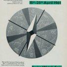 1961 Swiss Watch Fair Basle Vintage 1960 Swiss Ad Suisse Horlogerie Advert