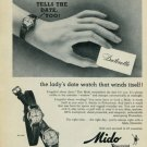 1959 Mido Watch Company Mido Datorette Advert Vintage 1959 Swiss Ad Suisse Advert Horology