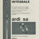 Ardi S.A. Company Geneva Switzerland 1968 Swiss Ad Suisse Advert Horology