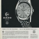 1960 Rado Watch Company Rado Starliner Advert Vintage 1960 Swiss Ad Suisse Advert Horology
