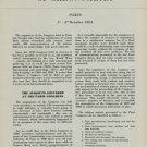 1954 International Congress of Chronometry by L Defossez Swiss Magazine Article Horology