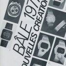 1977 Basel Swiss Watch Fair Heuer Pulsar Bulova Mido Foire de Bale Nouvelles Creations Switzerland