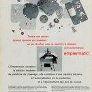 Empiermatic Vintage 1969 Swiss Ad Suisse Advert Horology Horlogerie Reno SA