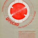 1964 Girocap Le Porte-Echappement Universel SA Vintage 1964 Swiss Ad Suisse Advert Horology