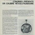 Longines Watch Company Un Calibre Revolutionnaire Vintage 1975 Swiss Magazine Article