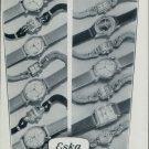 1947 Eska Watch Company Grenchen Switzerland Vintage 1947 Swiss Ad Suisse Advert