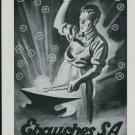Ebauches S.A. Neuchatel Switzerland Vintage 1947 Swiss Ad Suisse Advert Horology