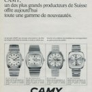 Camy Watch Company Geneva Switzerland Vintage 1972 Swiss Ad Suisse Advert