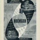 1956 Bechler Machine Company Moutier Switzerland 1956 Swiss Ad Suisse Advert Horlogerie Horology