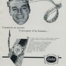 1956 Eska Watch Company Switzerland Vintage 1956 Swiss Ad Suisse Advert