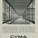 Cyma Watch Company Original 1950 Swiss Ad Switzerland Suisse Advert Horology