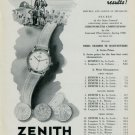 1949 Zenith Watch Company Neuchatel Observatory Vintage 1949 Swiss Ad Suisse Advert