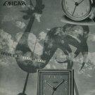 1950 Enicar Clock Company Langnau Switzerland Vintage 1950 Swiss Ad Suisse Advert