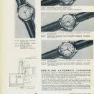 Breitling Watch Company Geneva 1956 Swiss Ad Geneve Suisse Horlogerie Horology