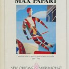 Max Papart 1985 Art Exhibition Ad Advertisement New Orleans Museum of Art