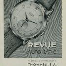 1950 Revue Watch Company Vintage 1950 Swiss Ad Suisse Advert Waldenburg Switzerland