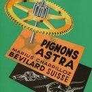 Marius Charpilloz Company Astra Pignons Vintage 1956 Swiss Ad Suisse Advert Horlogerie Horology