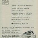 1950 National Watch Company La Chaux-de-Fonds Switzerland Vintage 1950 Swiss Ad Suisse Advert