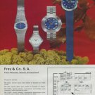 1972 Freco Watch Company Frey & Co S.A. Swiss Watch Fair 1972 Swiss Ad  Suisse Advert