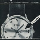 Eloga Watch Company Lengnau Switzerland Vintage 1968 Swiss Ad Suisse Advert