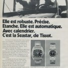 1973 Tissot Watch Company Tissot Seastar Advert Vintage 1973 Swiss Ad Suisse Advert Horlogerie