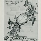 1949 Nicolet Watch Company Switzerland Vintage 1949 Swiss Ad Suisse Advert Horlogerie