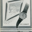 Universal Watch Company Universal-Geneve Watch Co. 1949 Swiss Ad Suisse Horlogerie Advert