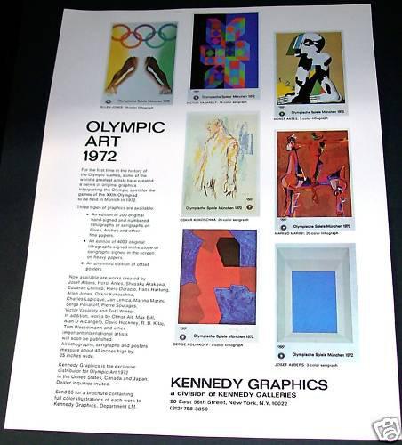 Varsarely Albers Olympic Art 1972 Advert Vintage 1971 Art Ad Advert Advertisement