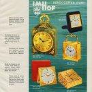 Imhof Clock Company Arthur Imhof S.A. Vintage 1968 Swiss Ad Suisse Advert Horlogerie