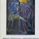 Mihail Chemiakin New York Period 1987 Paris Art Exhibition Ad Advert Advertisement