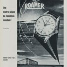 1956 Roamer Watch Company Soleure Switzerland 1956 Swiss Ad Suisse Advert Horlogerie