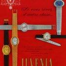 1968 Juvenia Watch Company Switzerland Vintage 1968 Swiss Ad Suisse Advert Horology