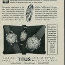 1950 Titus Watch Company Geneva Switzerland 1950 Swiss Ad Suisse Advert Solvil Watch Company