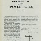 1949 Horology Differential and Epicyclic Gearing Vintage 1949 Swiss Magazine Article Horology