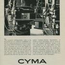 1950 Cyma Watch Company 1950 Swiss Ad Suisse Advert Tavannes Switzerland