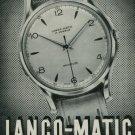 1950 Langendorf Watch Company Lanco-Matic Watch Co. Switzerland Vintage 1950 Swiss Ad Suisse Advert