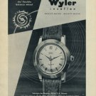 1956 Wyler Watch Company Vintage 1956 Swiss Ad Suisse Advert Bienne Switzerland
