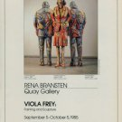 Viola Frey 1985 Art Exhibition Ad Advert Advertisement