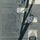 1956 Gruen Watch Company Vintage 1956 Swiss Ad Suisse Advert Geneva Switzerland