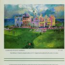 LeRoy Neiman Clubhouse at Old St. Andrew's Advert 1987 Art Ad Advertisement